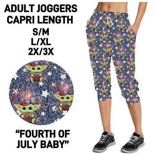 4th of July Baby Capri Joggers