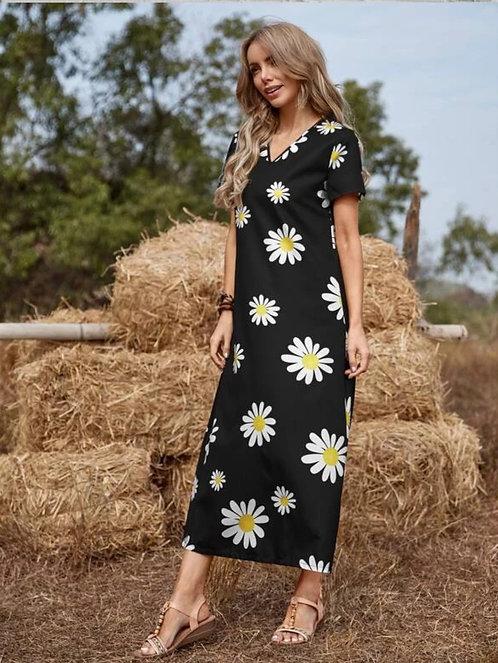 Daisy Tunic Dress ~ S Thru XL ~ Multiple Color Options