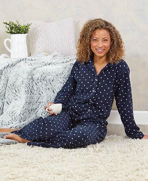 Polka Dot Fleece Pajama Sets ~ S thru 3XL~ Multi color options