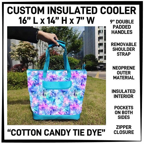 Cotton Candy Tie Dye Custom Insulated Cooler