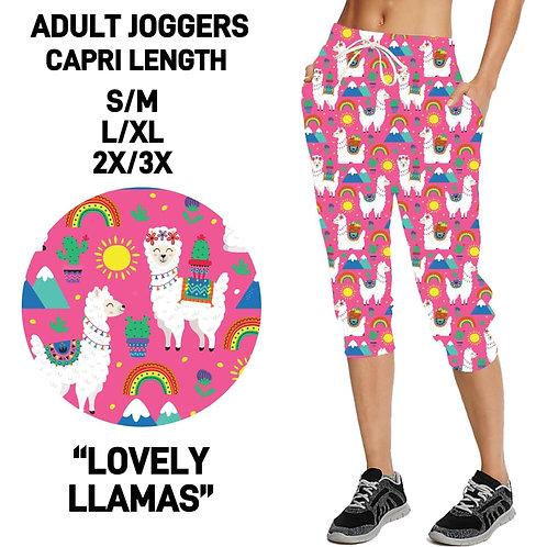Lovely Llamas Capri Joggers