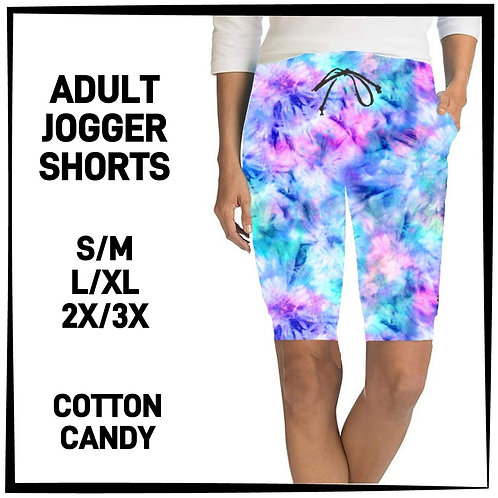 Cotton Candy Tie Dye Jogger Shorts