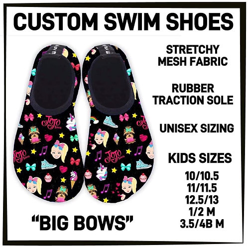 Big Bows Water/Swim Shoes ~ Kids ONLY