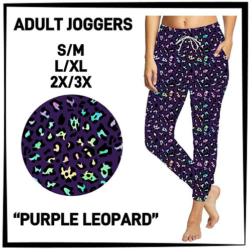 Purple Leopard Joggers