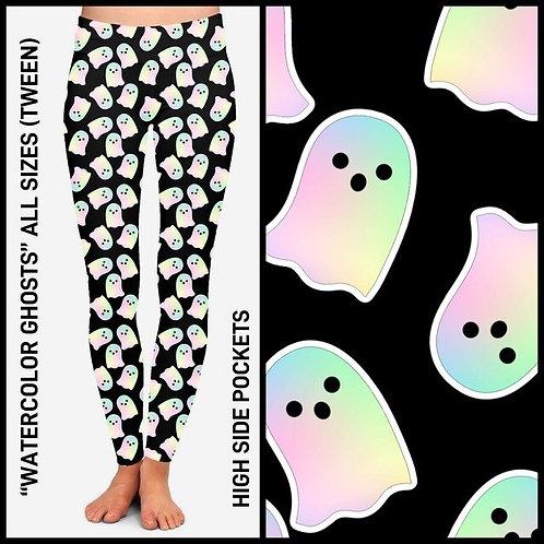 Watercolor Ghosts Leggings
