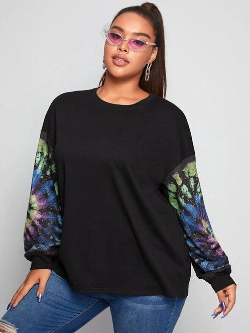 Tie Dye Drop Shoulder Pullover ~ X sizes ~ Color options