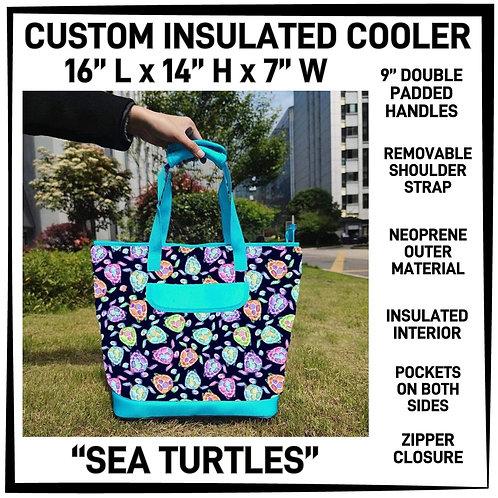 Sea Turtles Custom Insulated Cooler