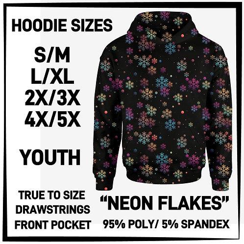 Neon Flakes Hoodie