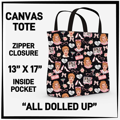 All Dolled Up Canvas Tote