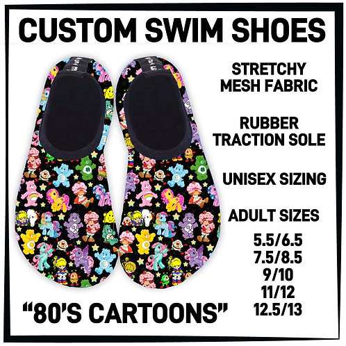 80's Cartoons Water/Swim Shoes