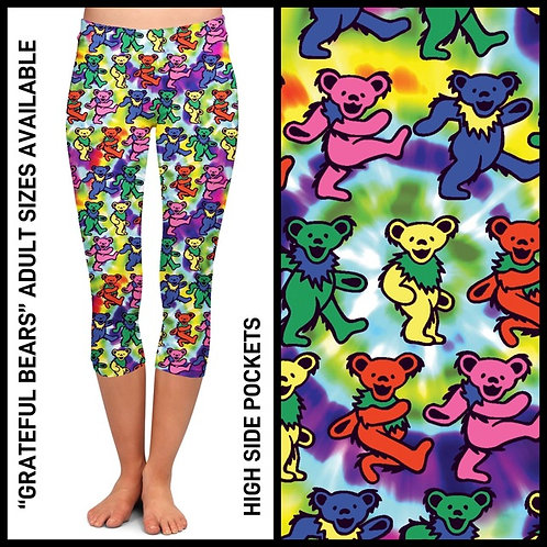 Grateful Bears Capri Leggings w/Pockets