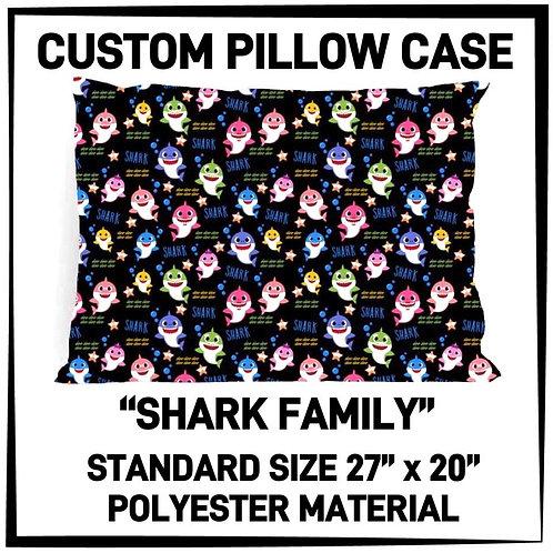 Shark Family Pillowcase