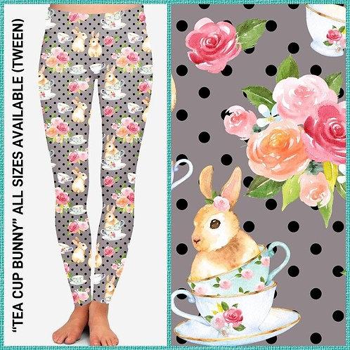 Tea Cup Bunny Leggings ~ Kids ONLY