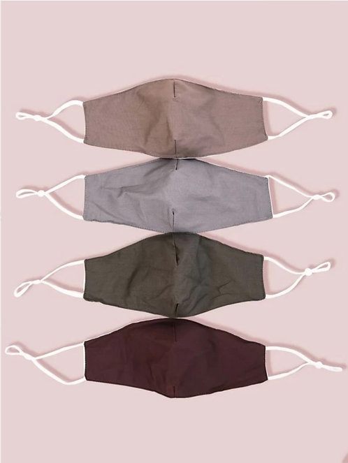 Men's Color Face Coverings ~ Sold in Sets ~ Solid or Camo