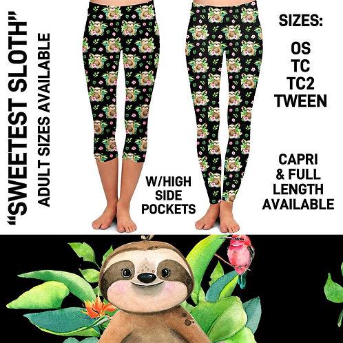 Sweetest Sloth Leggings