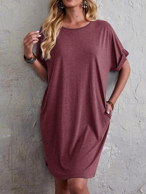 Dolman Sleeve Tee Dress ~ S thru XXL ~ Color Options