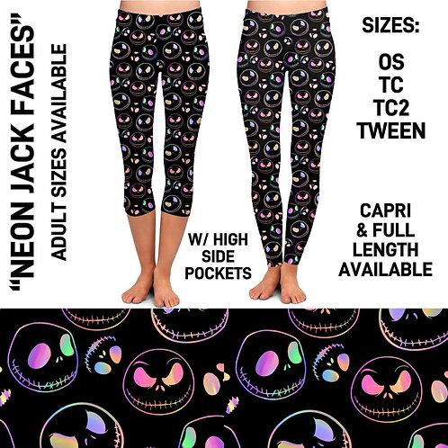 Neon Jack Faces Leggings