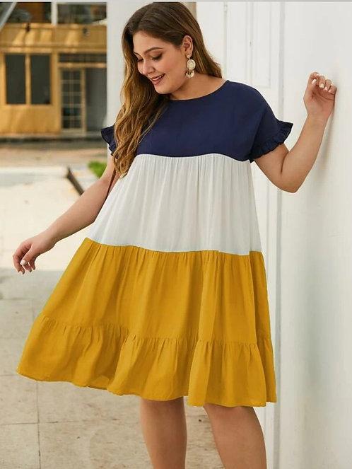 Color Block Smock Dress ~ Multiple Color Options ~ X sizes