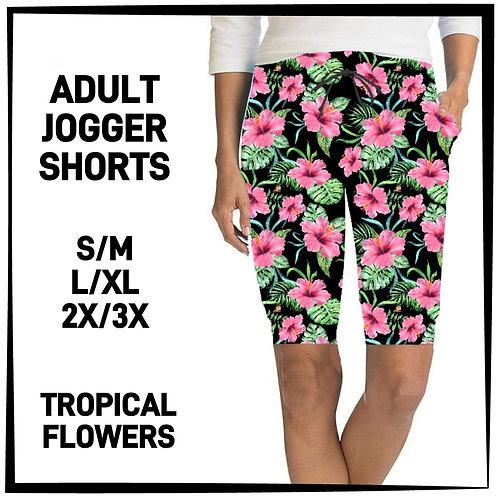 Tropical Floral Jogger Shorts