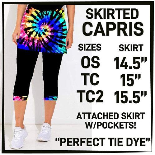 Perfect Tie Dye  Skirted Capri
