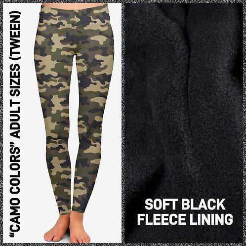 Camo Fleece Leggings