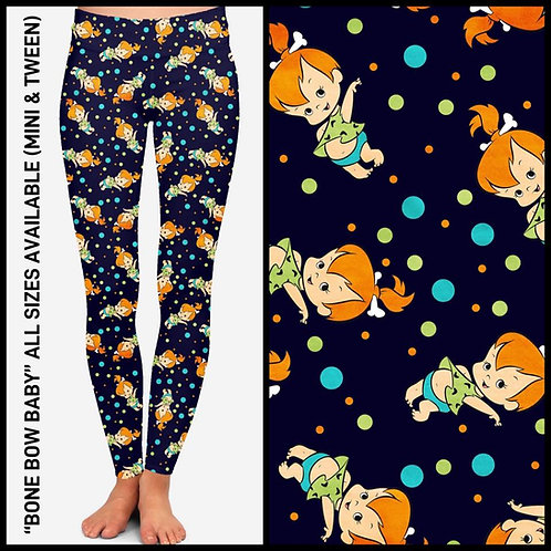 Bone Bow Baby Leggings ~ ETA Late April