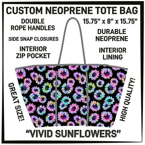 Vivid Sunflowers Neoprene Bag