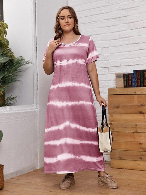 Tie Dye Print Tee Dress ~ X sizes ~ Color Options