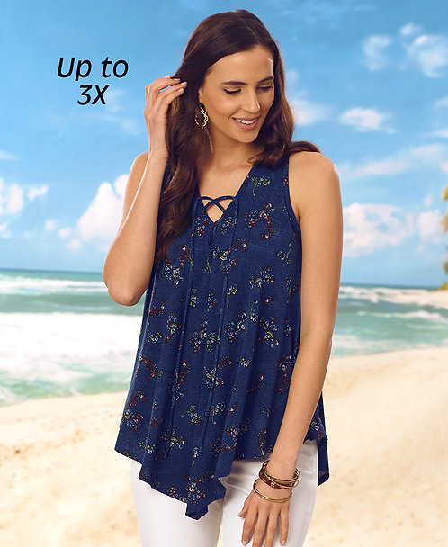 Navy with Ditsy Flowers ~ Medium only