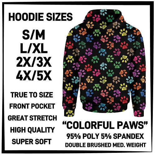 Colorful Paws Hoodie