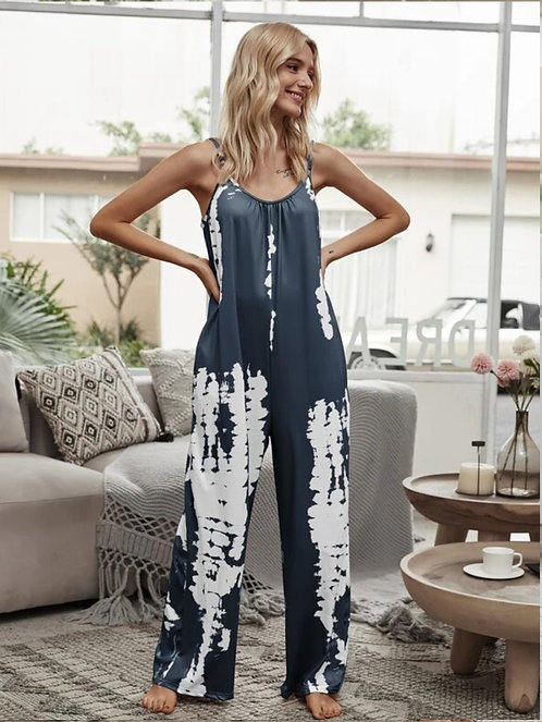 Tie Dye Slant Pocket Cami Jumpsuit ~ All Sizes ~ Color Options