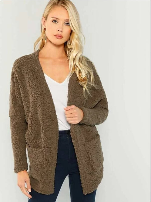Open Front Teddy Coat ~ XS thru L ~ Color Options