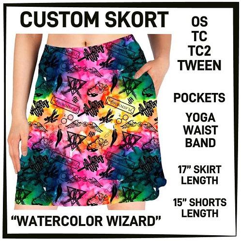Watercolor Wizard Skort