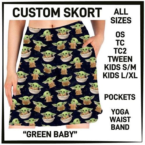 Green Baby Skorts