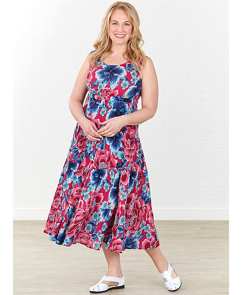Women's Breezy Floral Tiered Dresses ~ M thru 3XL ~ Color options
