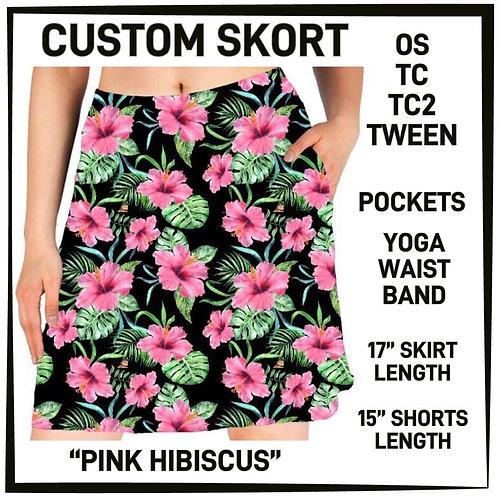Pink Hibiscus Skort