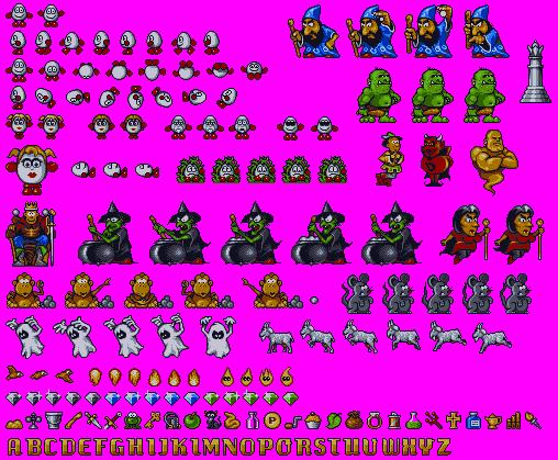 MagiclandDizzy16bit_CharactersItems1.png