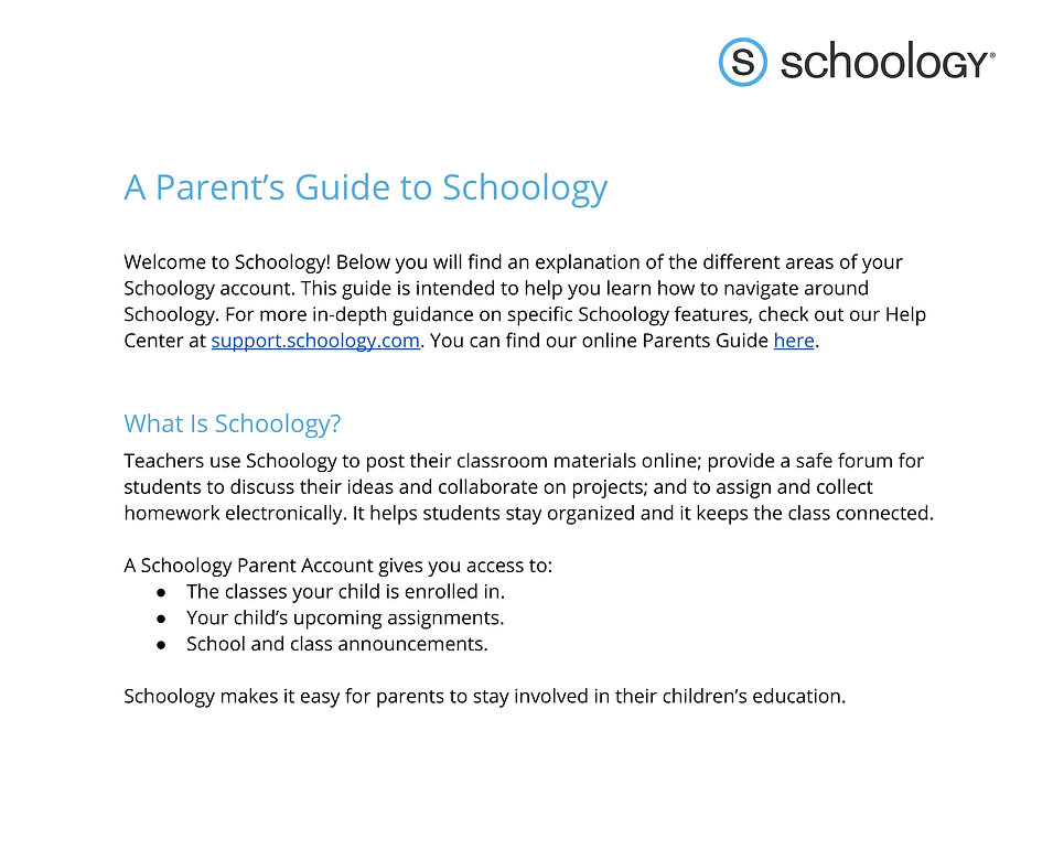 Getting Started on Schoology for Parents
