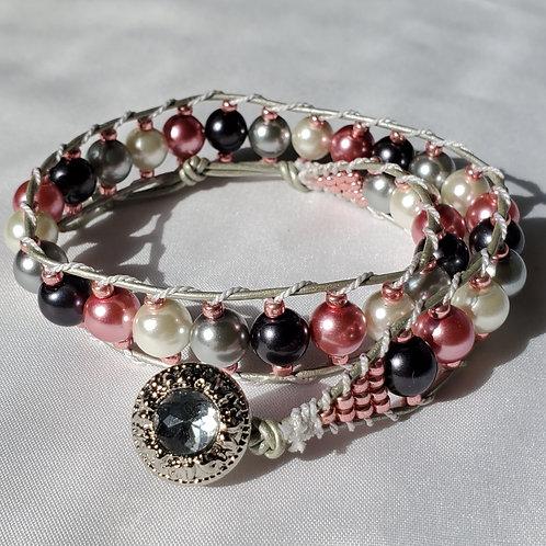 Pretty in Pink Double Wrap Bracelet