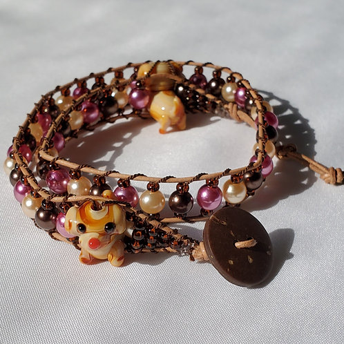 Puppy Love Double Wrap Bracelet