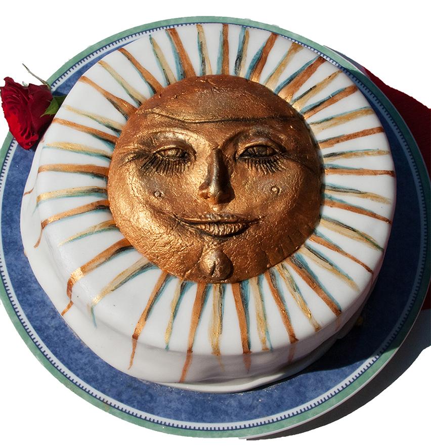 Sonnentorte, Torte mit Sonne