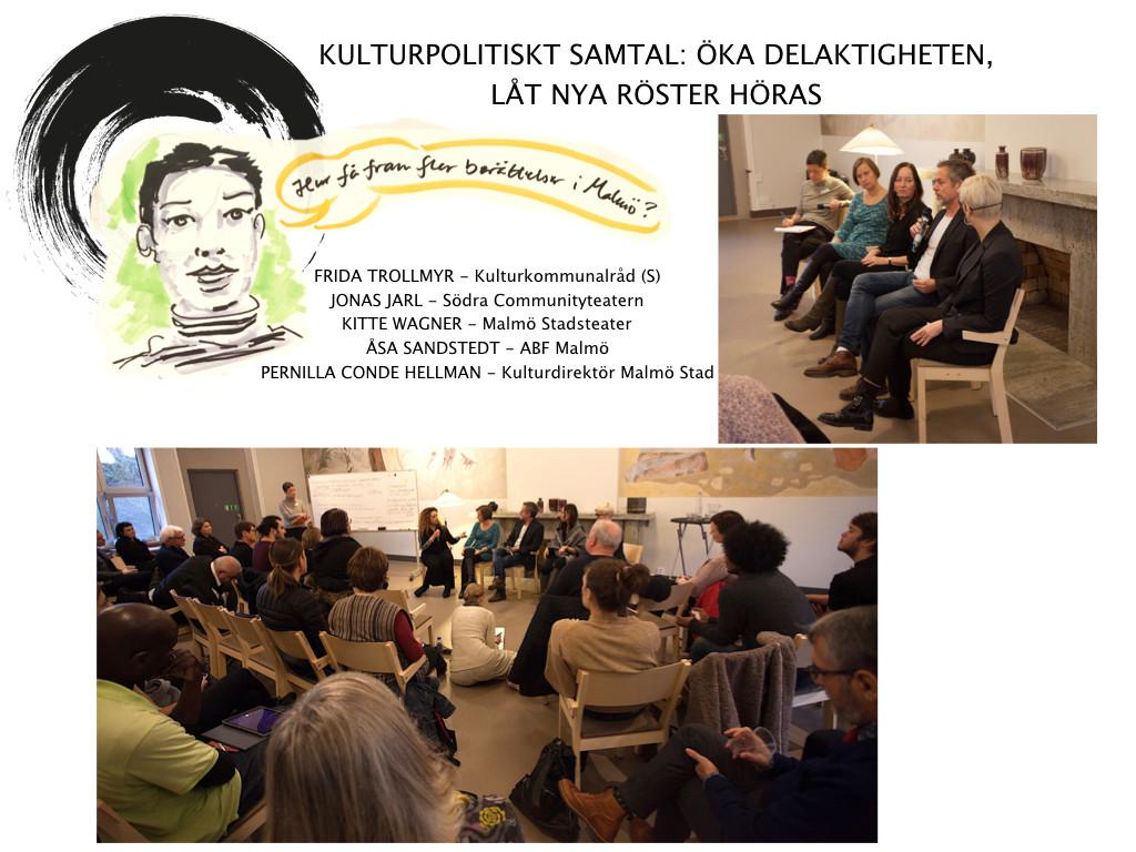 Communitybiennalen - Kulturpolitiskt samtal: Öka delaktigheten
