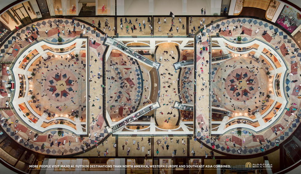Colombian artist Mario Arroyave portrayed Dubai's most iconic mall from an angle no shopper has