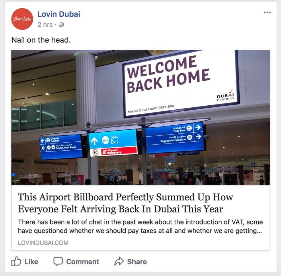 How 3 simple words struck a chord with every expat coming back to Dubai.