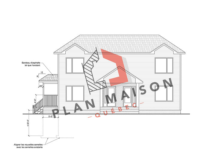 plan de maison 1 etage