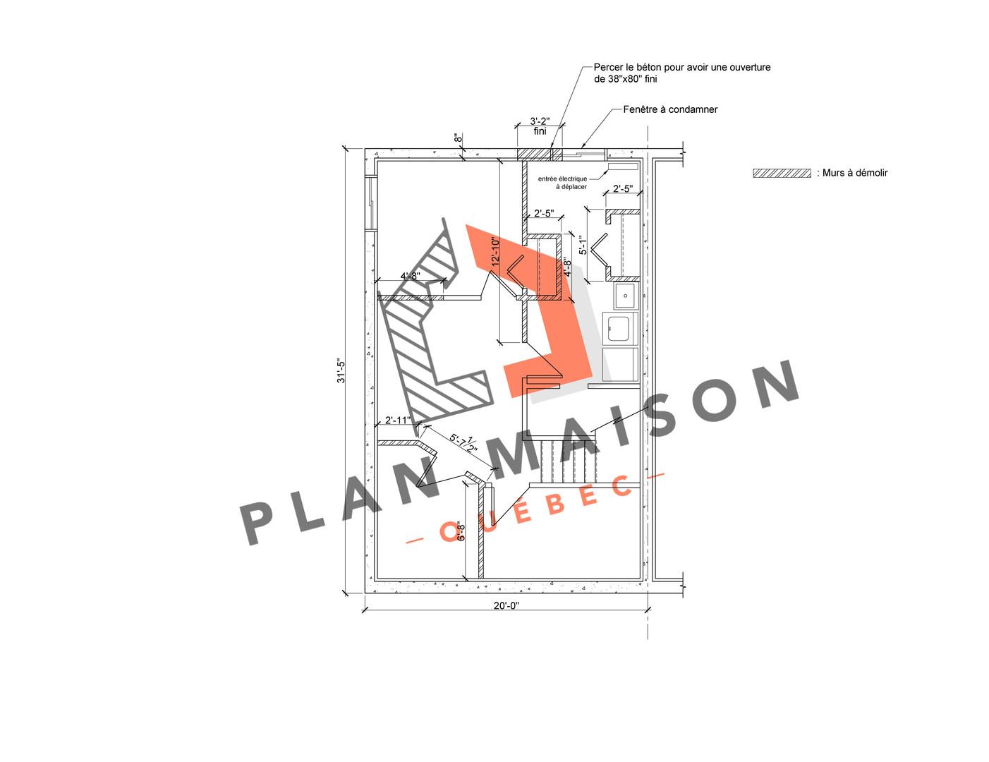 plan de maison 1 étage