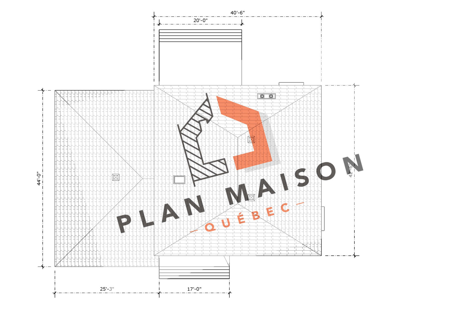 plan de maison contemporaine avec garage