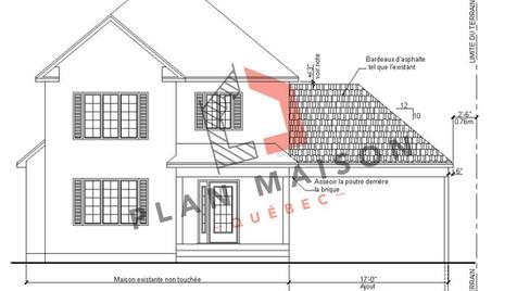 plan maison 2 etage avec garage