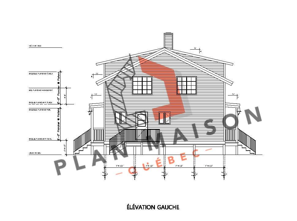 plan chalet contemporain