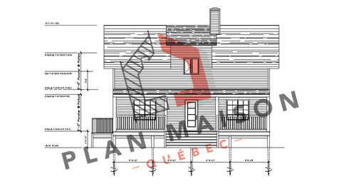 plan chalet contemporain